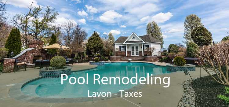 Pool Remodeling Lavon - Taxes