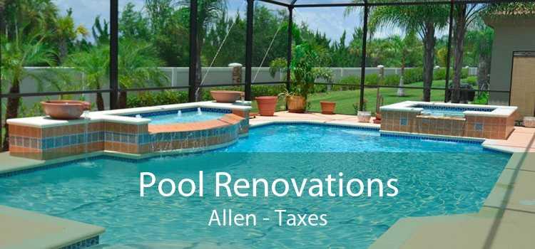 Pool Renovations Allen - Taxes