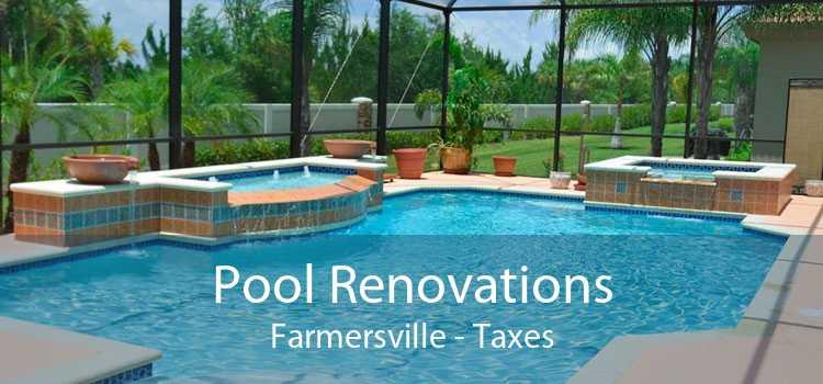 Pool Renovations Farmersville - Taxes