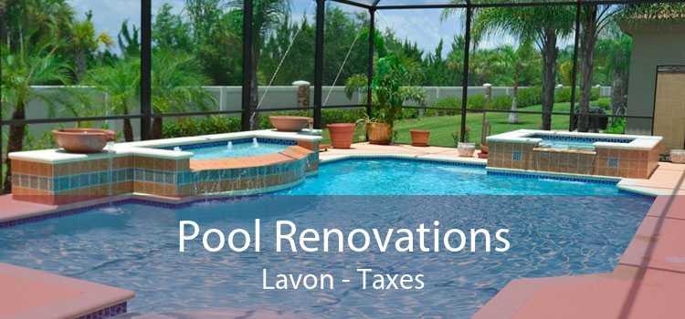 Pool Renovations Lavon - Taxes