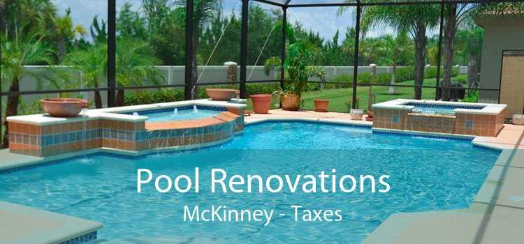 Pool Renovations McKinney - Taxes