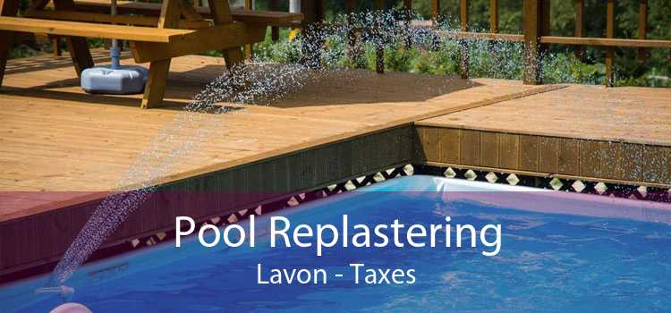 Pool Replastering Lavon - Taxes