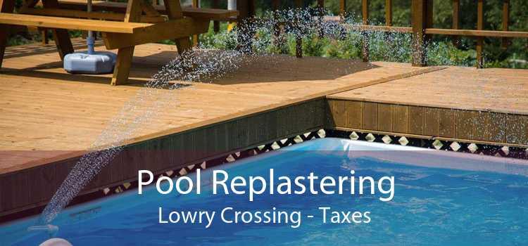 Pool Replastering Lowry Crossing - Taxes