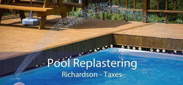 Pool Replastering Richardson - Taxes